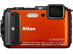 NIKON-Coolpix-AW130-Orange-Digitalkamera